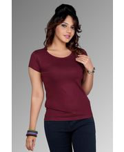 Women Fancy Clifton Plain T-Shirt, wine, s