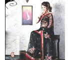Women Net Black Saree (Black)