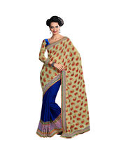 Hypnotex Sea Viscose Nylon Saree - Autograph 1708, multicolor