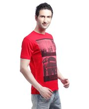 Crosscreek Round Neck Fashion T-Shirt - 510024, Red, L
