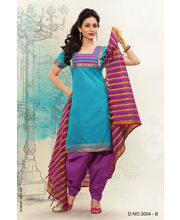 Touch Trends Pure Cotton Dress Material - 3004B, Multicolor