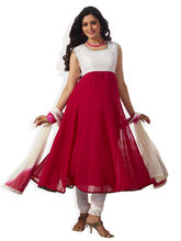 SHAH WAH Prom Time Ready To Stitch Anarkali Suit, dark red, fs