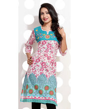 Printed Embroidery Cotton Kurti