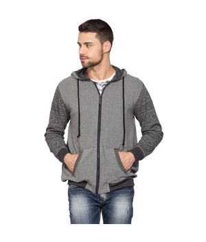 Fashion Hooded Sweatshirt, l,  grey