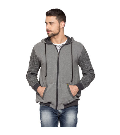 Fashion Hooded Sweatshirt, m,  grey