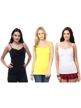 Phalin Pack Of 3 Lace Tees Top Splac_ c3_ 5, 36, multicolor