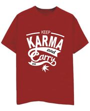 Champu Keep Karma And Carry On Men's T-Shirt CHMP_ MT_ 427, Red, M