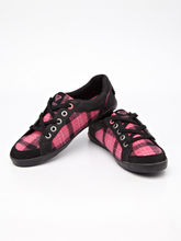 Roxy Checked Canvas Jogging Sneakers, dark pink, 38