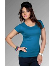 Blue Women Fancy Clifton Plain T-Shirt, blue, xl