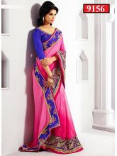 Ethnic Trend Indian Bollywood saree, pink
