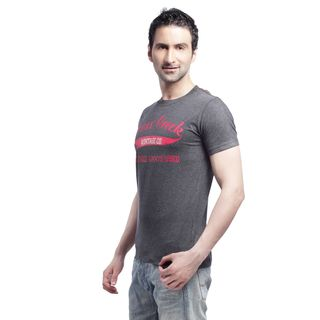 Crosscreek Round Neck Fashion T-Shirt - 510036, Grey, M