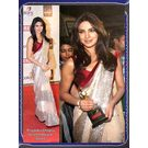 Priyanka Chopra Screen Award Saree-P1, off white