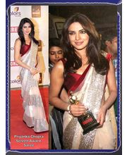 Vamika Priyanka Chopra Screen Award Saree-P1, Off White