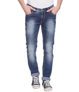 Skinny Low Rise Narrow Fit Jeans, 30,  mid blue