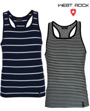 West Rock Stripe Vest-Set Of 2Pcs (Multicolor, M)