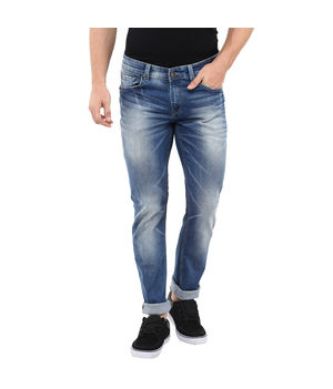 Skinny Fit Jeans, 36,  mid blue