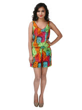 ShopperTree Tie Dye Printed Jumpsuit - ST1385, l, multicolor
