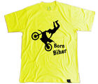 Clifton Tshirt Graphic Born Biker Yellow (Yellow, L)
