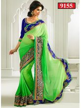 Ethnic Trend Indian Bollywood saree, green