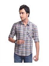Yepme Jude Check Shirt -YPMSHRT0305, Blue, 42