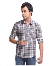 Yepme Jude Check Shirt -YPMSHRT0305, Blue, 44