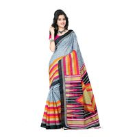Vamika Bhagalpuri silk Saree, grey