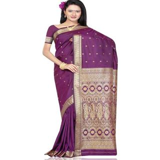 Beautiful Silk Saree 274 (Purple)