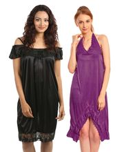 Klamotten Nightdress Combo Of Two Kn-133, Multicolor