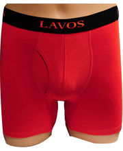 Lavos Bamboo- Organic Cotton Boxer Brief- 2003 Rust Orange (Orange, L)