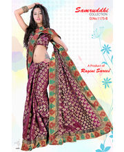 Jacquard Saree With Banarasi Border By Ragini Sarees - 1175B, Multicolor