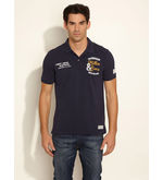 ESPRIT Authentic Polo Tee, dark blue, l