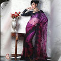 Women Net Maroon Saree