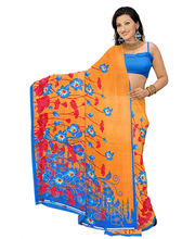 Designer Art Silk Saree With Unstitched Blouse - 30342-OR, Orange