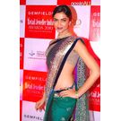 Deepika Padukone Green 6th retail Jeweller India Award Saree D6,  green