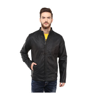 Regular Solid Jacket, l,  black