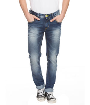 Skinny Low Rise Narrow Fit Jeans,  mid blue, 38