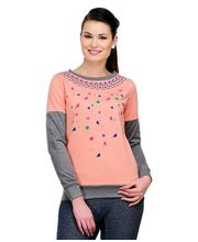 Yepme Megan Sweatshirt, Peach, S
