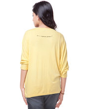 Do U Speak Green Crane Women Organic T-Shirt - DUSG066Bam, Yellow, S