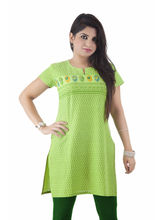 Hakashi Cotton Kurti, 36, green