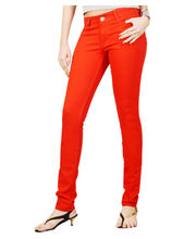 Fungus Women Denim Jeans - FLD-013, Red, 28