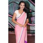 Sonakshi Sinha DID Littile Master Light Pink Saree by Vamika, light pink