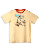 Unamia Super Fly Man T-Shirt (Orange, 2-3Year)