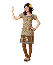 Fabdeal Pure Cotton Unstitched Salwar Suit (DYVDR7001VU), Light Brown