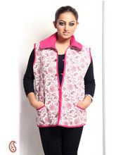 Soft Cotton Filled Printed Quilted Jaipuri Jacket (Multicolor, L)