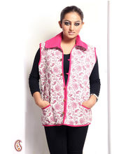 Soft Cotton Filled Printed Quilted Jaipuri Jacket (Multicolor, M)