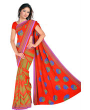 Designer Art Silk Saree With Unstitched Blouse - 30799-RD, Red