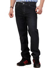 Comfort Stretch Ash Black Straight - Leg Jeans