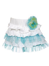 Lil Poppets Sinker N Net Frilly Skirt for Girls, blue, 1