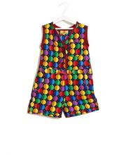 UFO Dotted For Summer Style Rompers, black, m