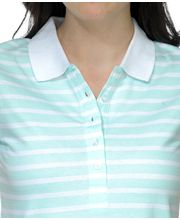 Yepme Sylvie Stripes Polo TeeYPMTSRT5025, White, M